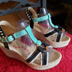 Stork Step leather wedge sandal 41 from Portugal